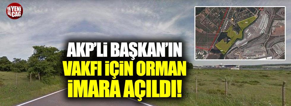 AKP'li Başkan'ın vakfı için orman imara açıldı