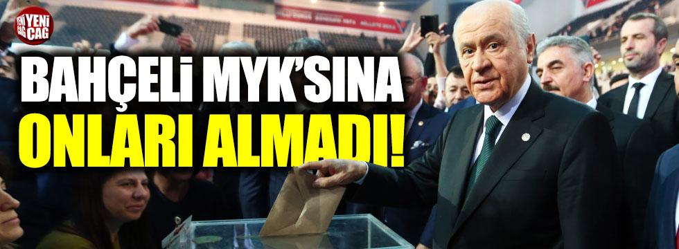 MHP yönetiminde 45 yeni isim