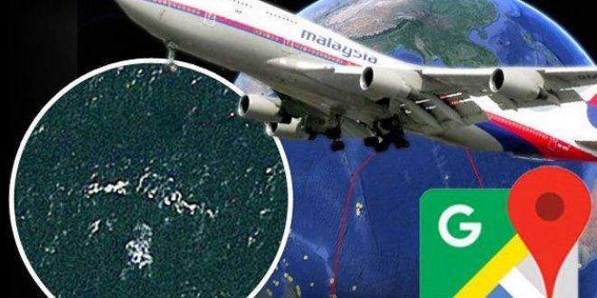Kayıp Malezya uçağı Google Maps'te bulundu