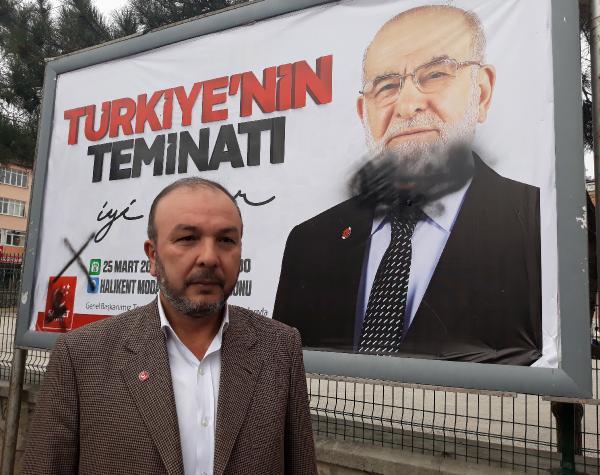 Saadet Partisi afişlerine saldırı