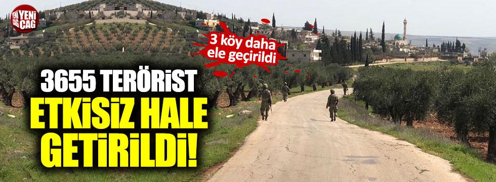 Afrin'nde üç köy daha teröristlerden temizlendi