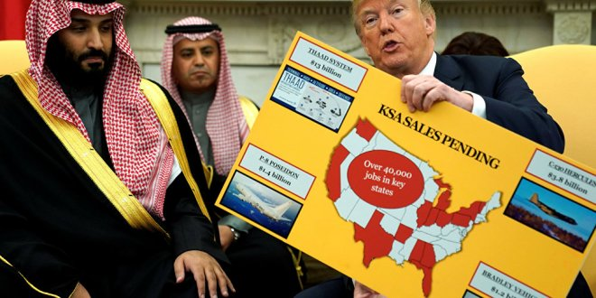 Trump, sattıkları silahın çizelgesini gösterdi