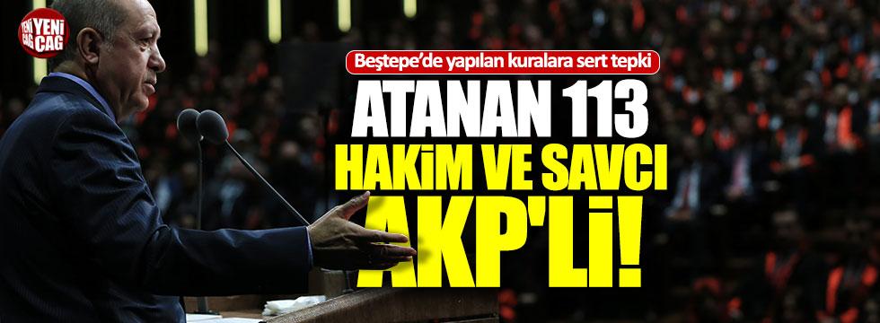 Atanan 113 hakim ve savcı AKP'li