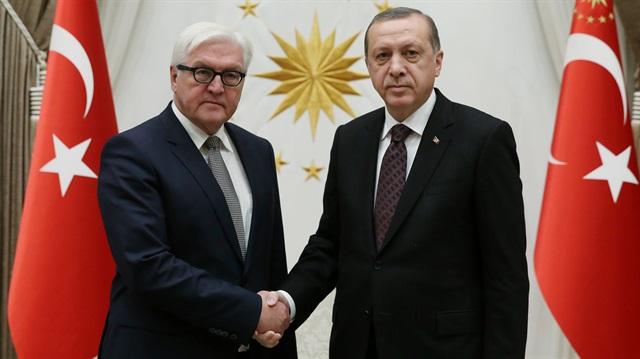 Erdoğan, Alman mevkidaşı ile görüştü