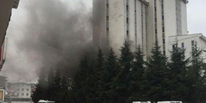 Devlet Hastanesi'nde yangın