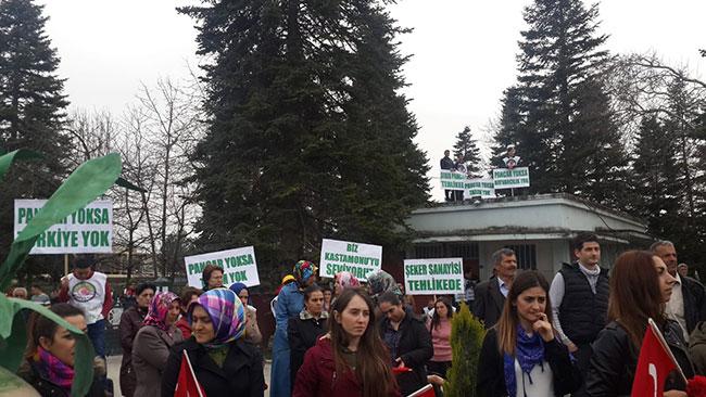 İYİ Parti, CHP ve SP şeker fabrikasına yürüdü