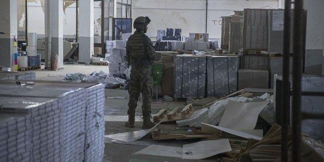 Afrin'de teröristlerin karargahı bulundu