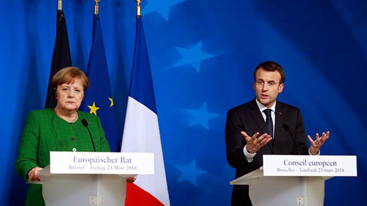 Macron ve Merkel'den ortak basın toplantısı