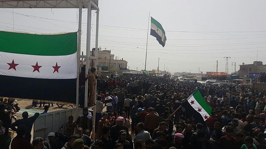 Tel Rıfat'ta halk, TSK için sokaklara döküldü