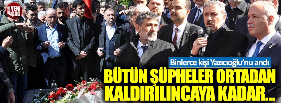 Muhsin Yazıcıoğlu, vefatının 9'uncu yıl dönümünde mezarı başında anıldı