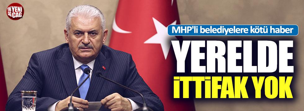 """Yıldırım: """"MHP ile yerelde ittifak yok"""""""