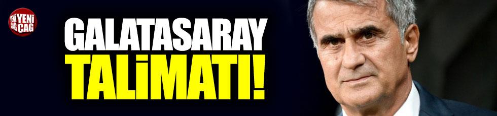 Şenol Güneş'ten oyuncularına Galatasaray talimatı