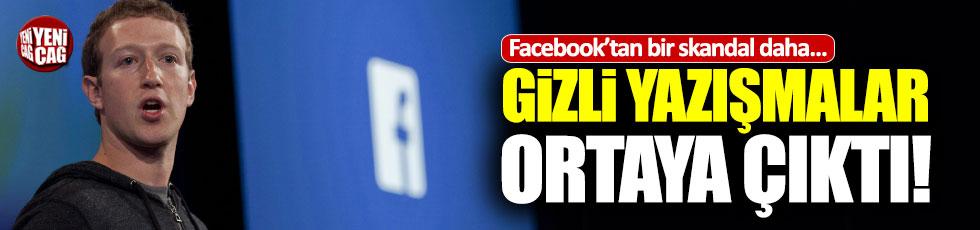 Facebook'ta 'gizli yazışma' skandalı