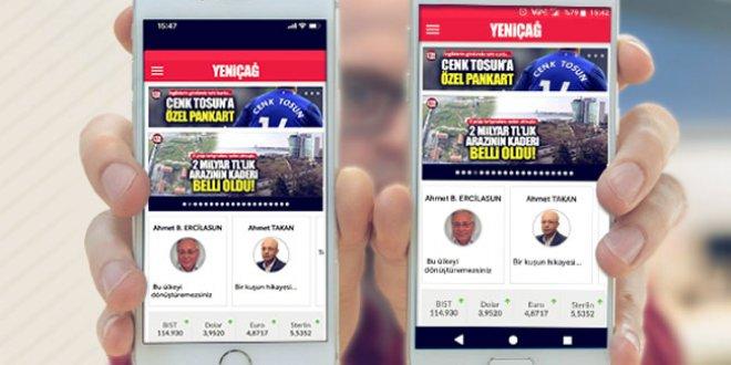 Yeniçağ mobil uygulaması yayında