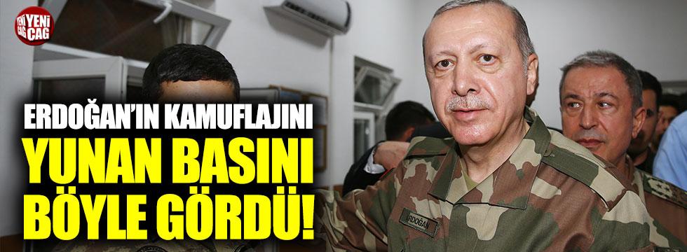 Erdoğan'ın kamuflajı Yunan basınında