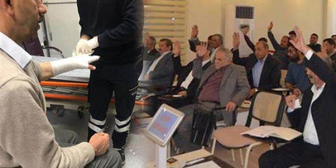 MHP'li belediye meclis üyeleri birbirine girdi