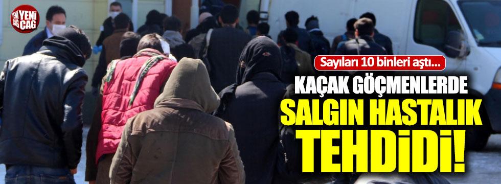 Türkiye'ye gelen kaçak göçmenlerde salgın tehdidi