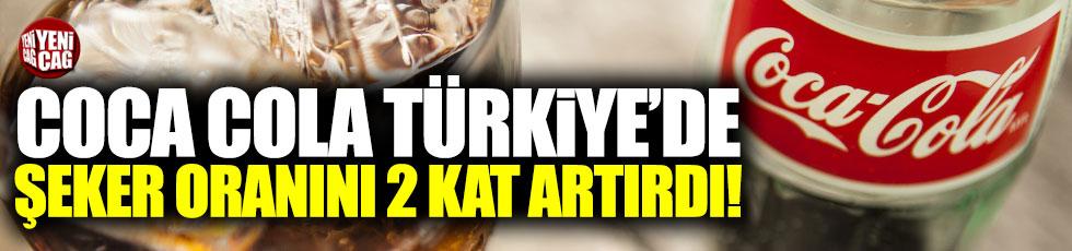 Coca Cola'dan Türkiye'de yüksek şeker oranı