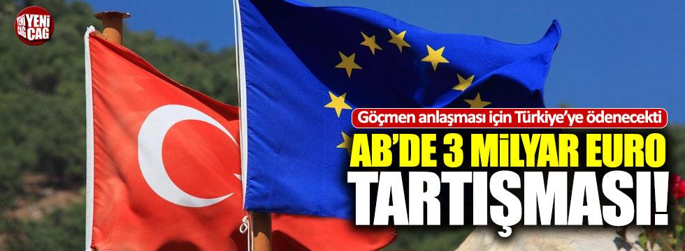 AB, Türkiye'ye verilecek 3 milyar Euro'yu tartışıyor