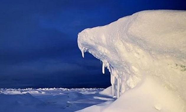 Antarktika'daki kar yağışında büyük artış