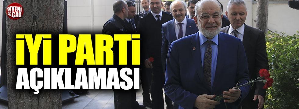 Karamollaoğlu'ndan İYİ Parti açıklaması