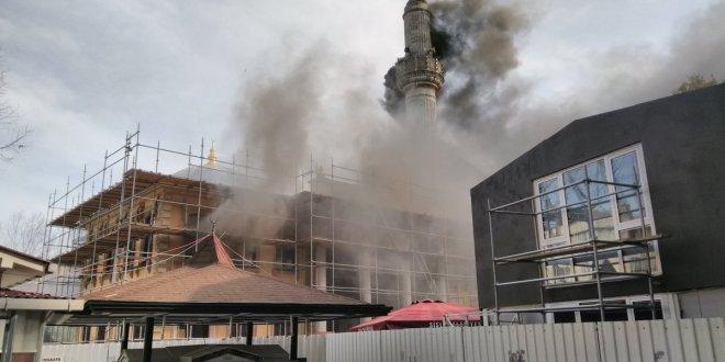 Teşvikiye Camii'nde büyük yangın!