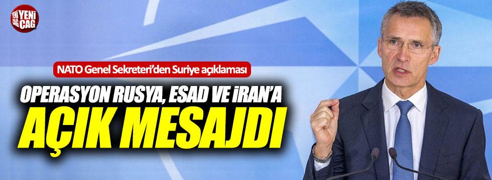 NATO Genel Sekreteri'den Suriye açıklaması