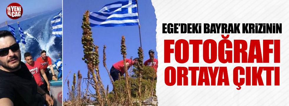 Ege'deki bayrak krizinin fotoğrafları ortaya çıktı