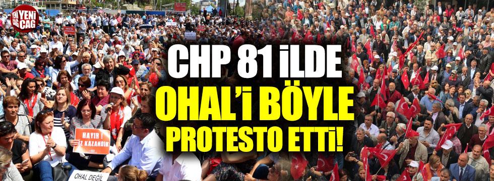 CHP'den 81 ilde OHAL'e karşı oturma eylemi