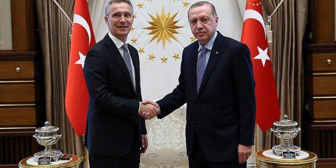 Erdoğan, Stoltenberg'i kabul etti