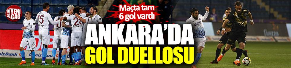 Trabzonspor ile Osmanlıspor'un gol duellosunda galip çıkmadı