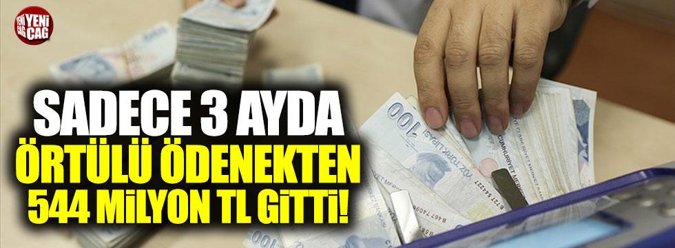 Örtülü ödenekten 3 ayda 544 milyon TL harcandı!