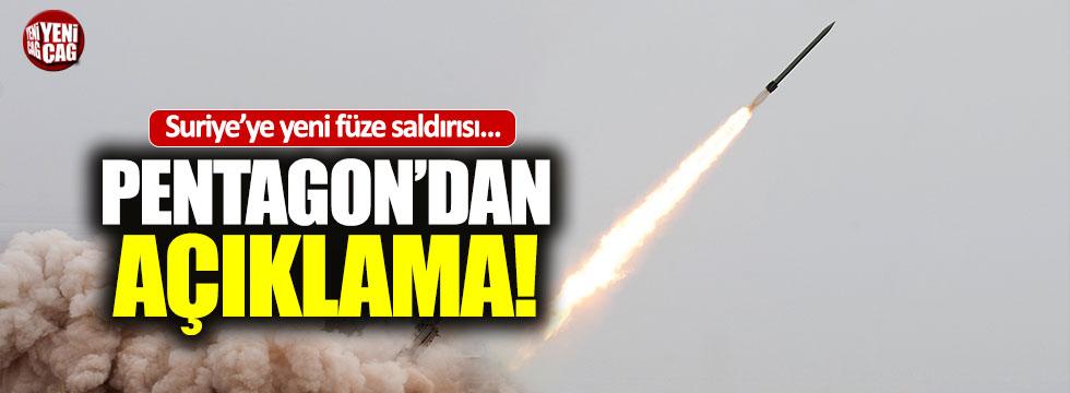 Suriye'ye yeni füze saldırısı iddiası