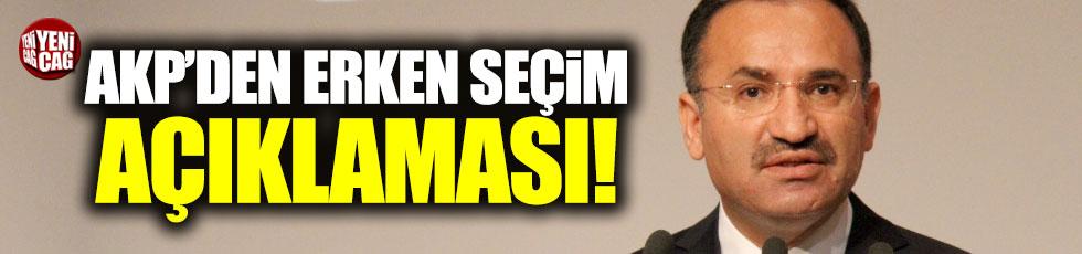 Bahçeli'nin erken seçim çağrısına AKP'den cevap