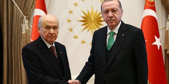 Bahçeli-Erdoğan görüşmesi sona erdi