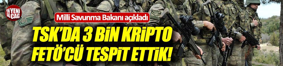 Savunma Bakanlığı: TSK'da 3 bin FETÖ'cü...