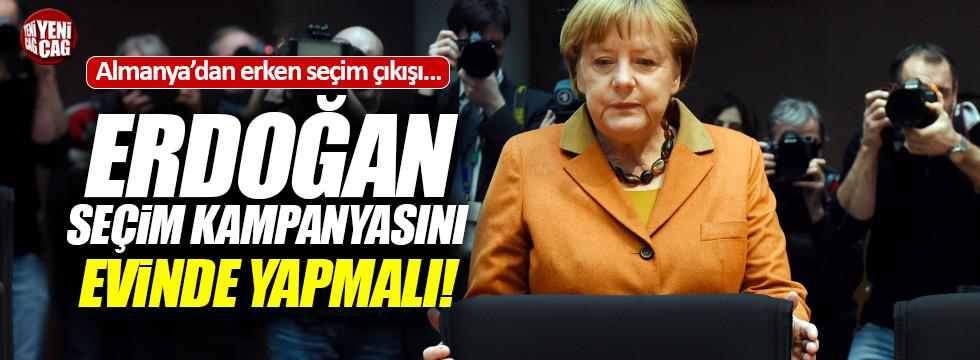 Almanya'dan erken seçim çıkışı