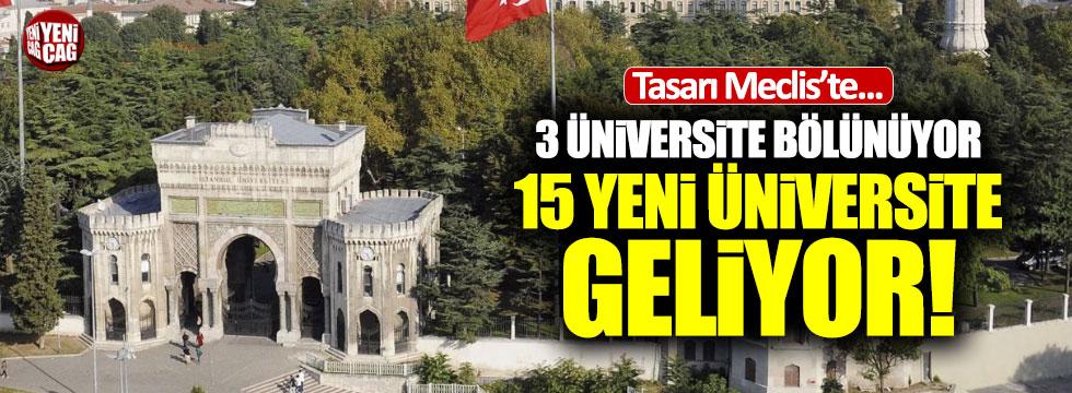 15 yeni üniversite kararı Meclis'te