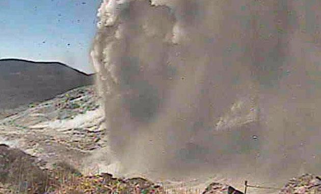 Japonya'da yanardağ 250 yıl sonra faaliyete geçti