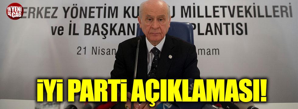 Bahçeli'den İYİ Parti açıklaması!