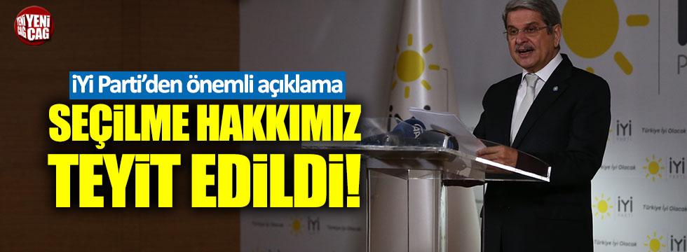 İYİ Parti'den YSK açıklaması!
