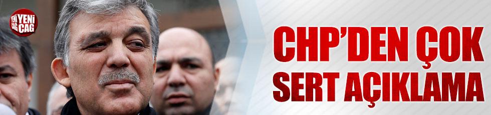 CHP'den Abdullah Gül açıklaması
