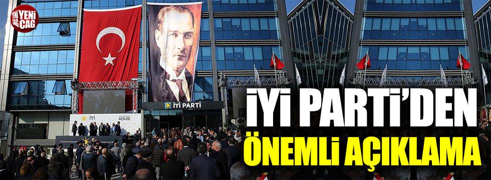İYİ Parti'den önemli açıklama