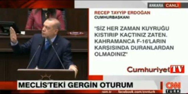 Erdoğan'ı sinirlendiren an!