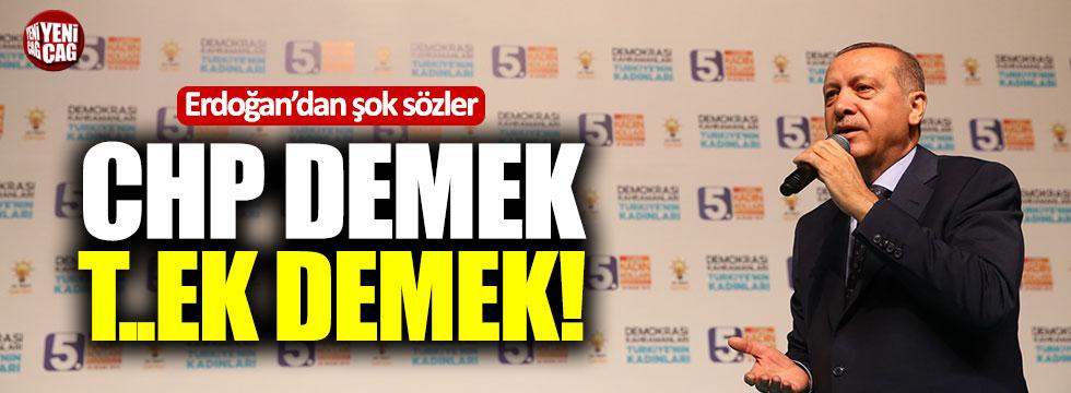 """Erdoğan: """"CHP demek tezek demektir"""""""