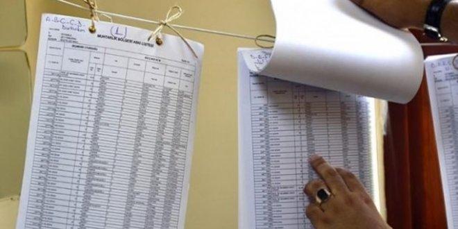 Seçmen listeleri askıya çıktı