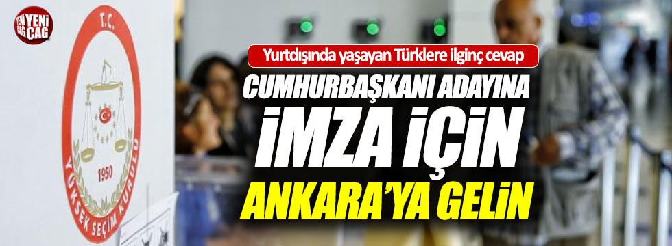 Yurtdışında yaşayan Türklere imza engeli
