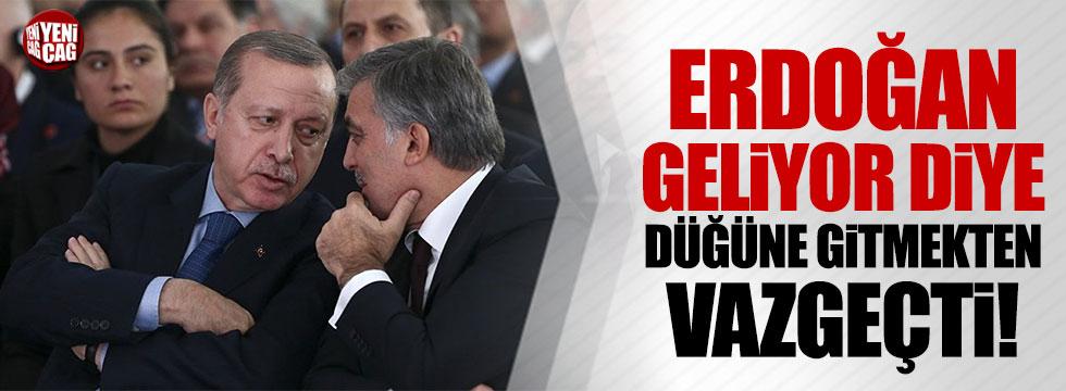 Abdullah Gül, Erdoğan geliyor diye düğüne gitmekten vazgeçti