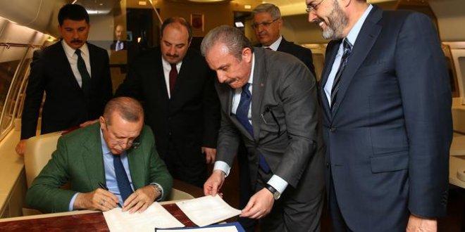 Erdoğan o imzayı böyle attı