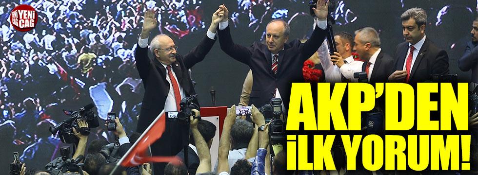 AKP'den CHP'nin adayı Muharrem İnce'ye ilk yorum!